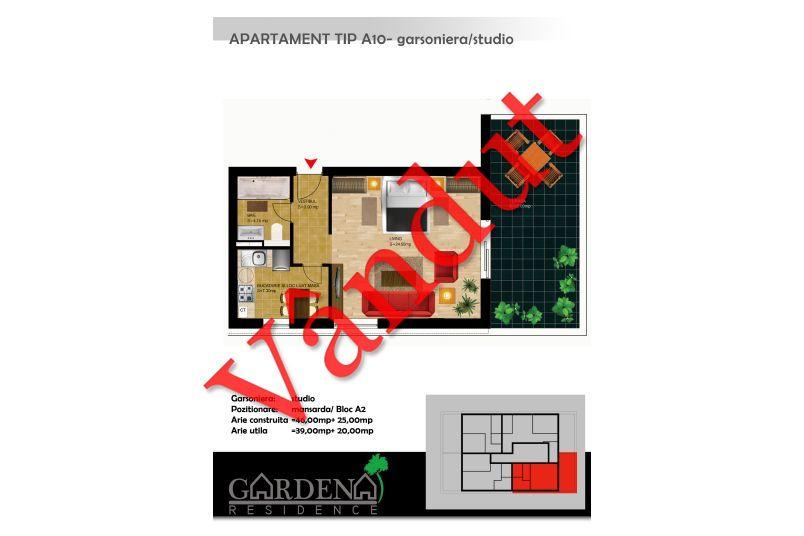 Garsoniere, Tip A 10, Gardena Residence