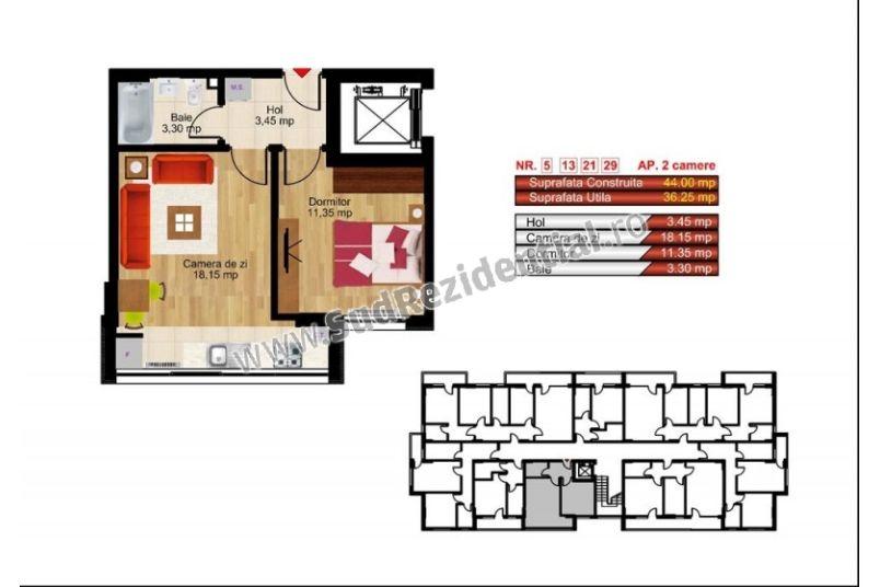 Apartamente 2 camere, 36 mp, Kristal Residence Berceni