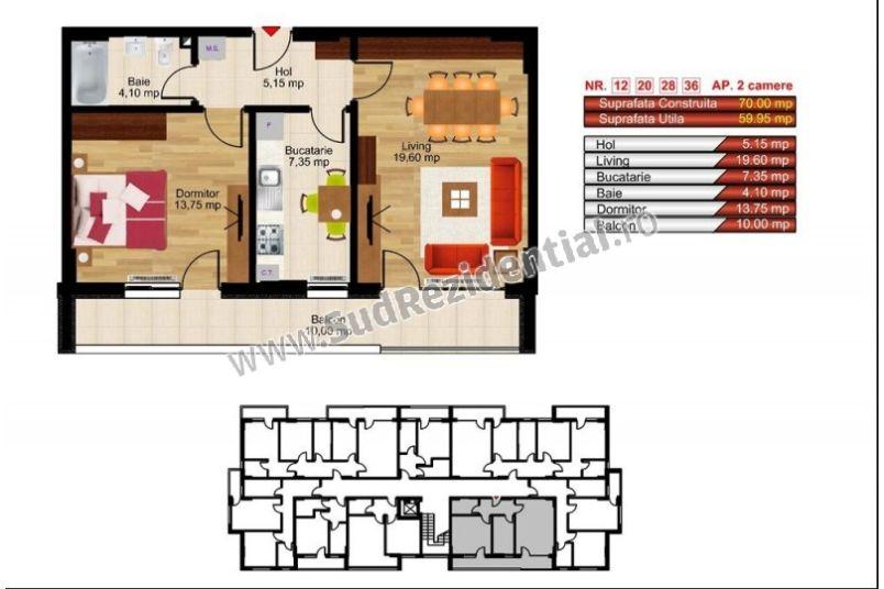 Apartamente 2 camere, 60 mp, Kristal Residence Berceni