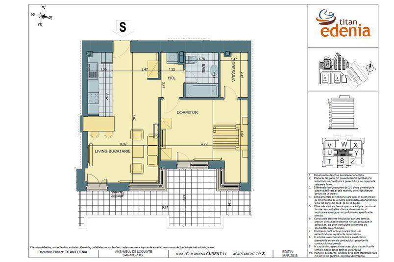 Apartamente 2 camere, Tip S, Edenia Titan
