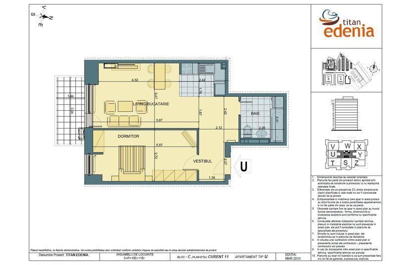 Apartamente 2 camere, Tip U, Edenia Titan