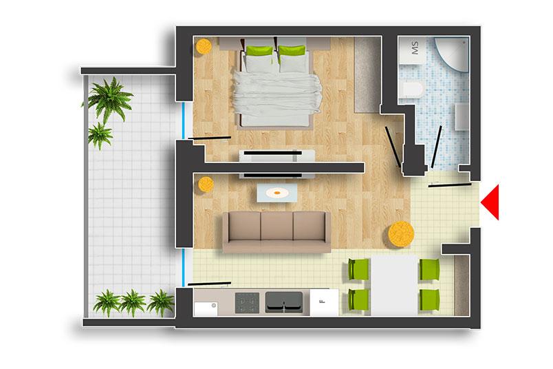 Apartamente 2 camere, 46 mp, Premium Residence Sova