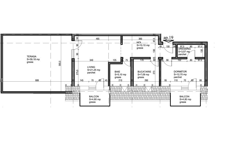 Penthouse 2 camere, 60 mp, CCI Residence
