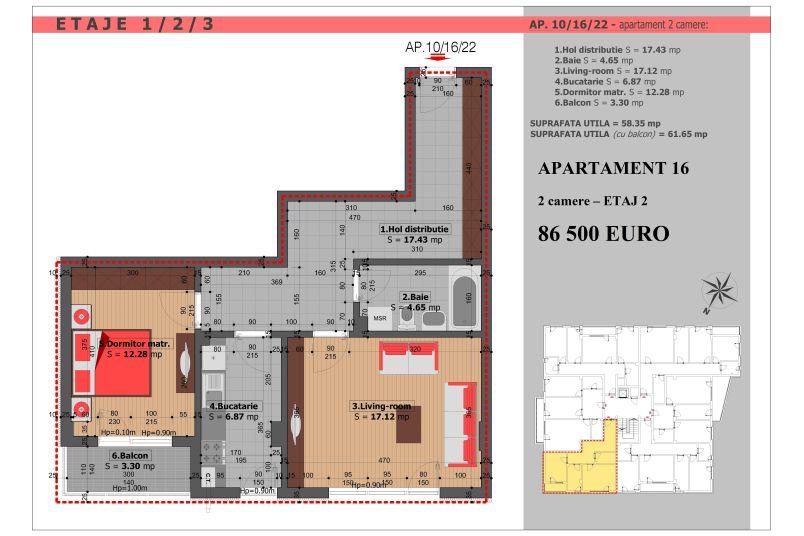Apartament 2 camere, 58 mp, Mihai Bravu Residence VIII