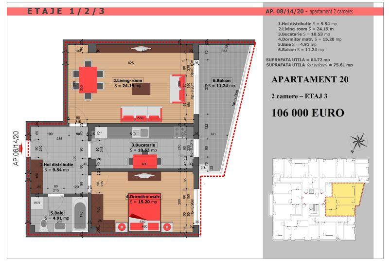 Apartament 2 camere, 65 mp, Mihai Bravu Residence VIII