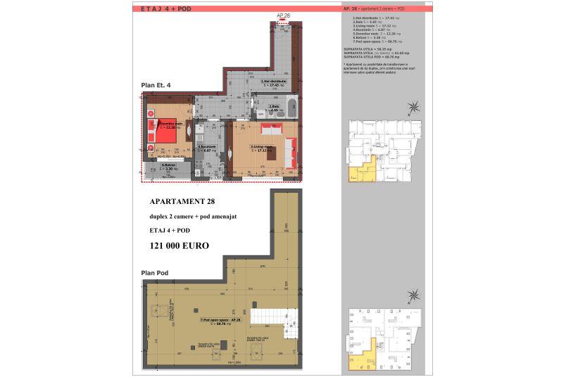 Duplex 2 camere, 58 mp, Mihai Bravu Residence VIII