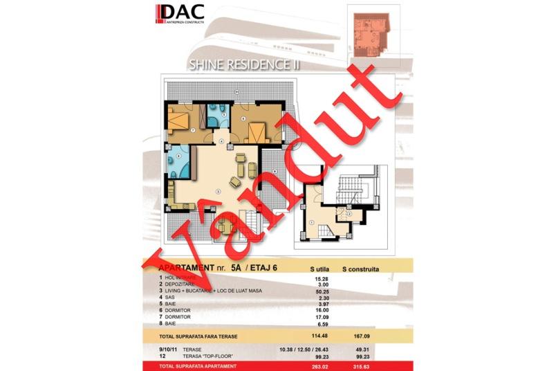 Duplex 3 camere, Model 5C, Shine Residence 2