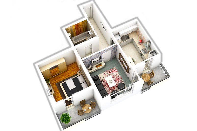 Apartamente 2 camere, 47 mp, Cartier Rezidential Alma