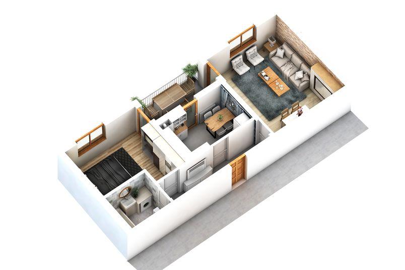 Apartamente 2 camere, 54 mp, Cartier Rezidential Alma