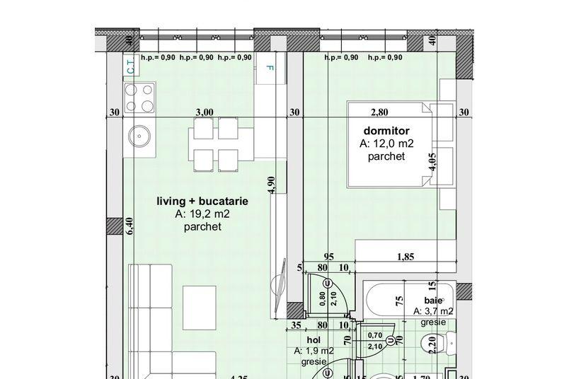 Apartamente 2 camere, 37 mp, Ansamblul Rezidential WBE II