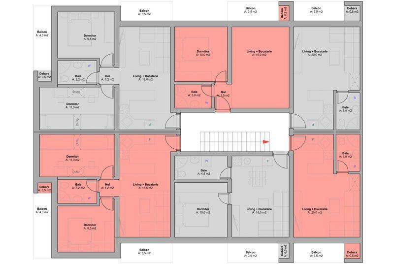Apartamente 2 camere, 32 mp, Ansamblul Rezidential ART - Speranta