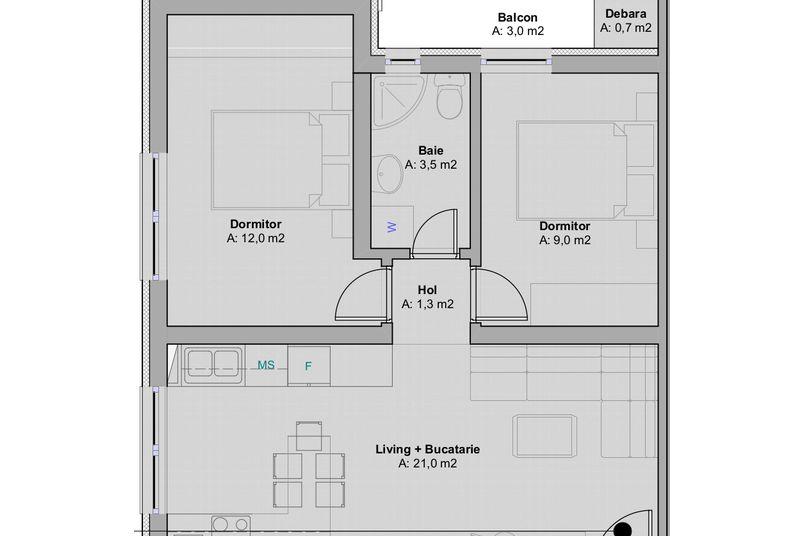 Apartamente 3 camere, 48 mp, Ansamblul Rezidential ART - Speranta