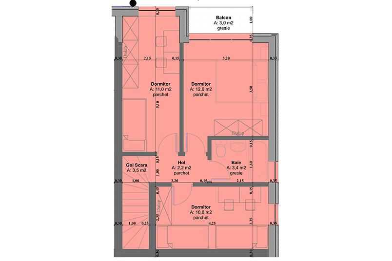 Case 4 camere, 83 mp, Ansamblul Rezidential De Case II - Calea Cisnadiei