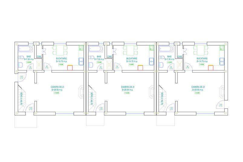 Case 4 camere, 100 mp, Ansamblul Rezidential de Case Sub Padure