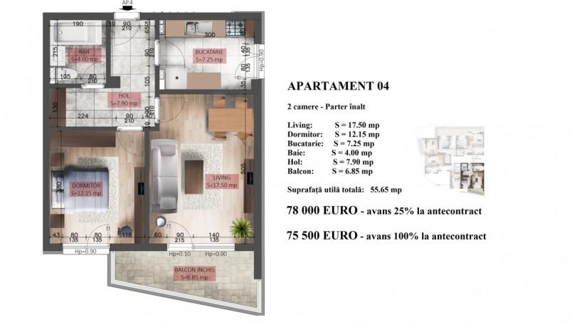 Apartament 2 camere, 55 mp, Mihai Bravu Residence X