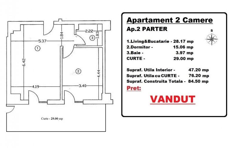 Apartamente 2 camere, 73 mp, Mosilor 16 Residence