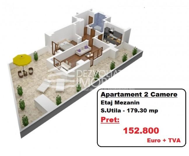 Apartamente 2 camere, 179 mp, Tineretului City