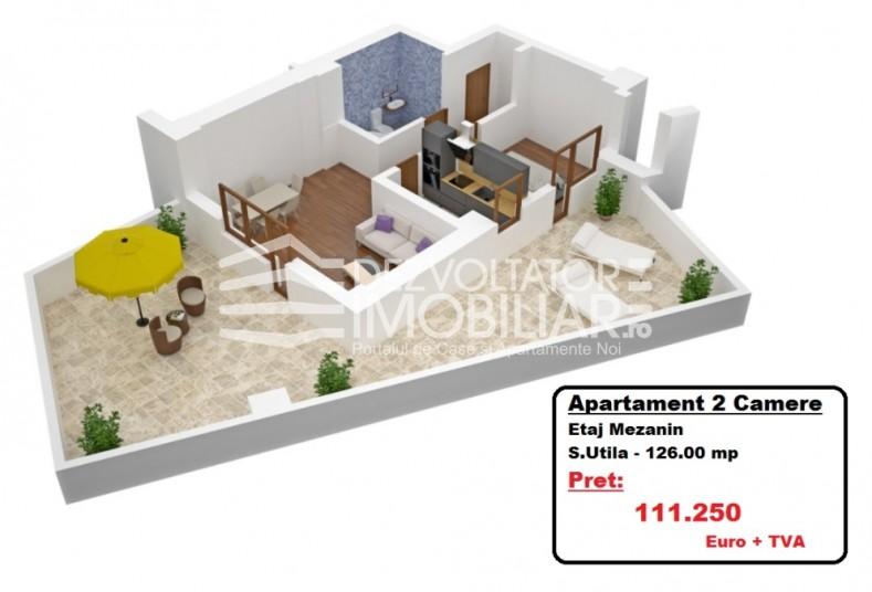 Apartamente 2 camere, 126 mp, Tineretului City