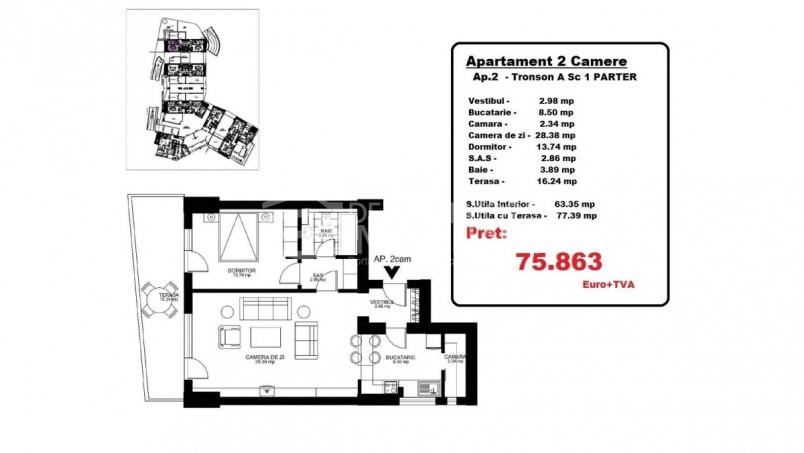Apartamente 2 camere, 63.35 mp, Octopus Garden