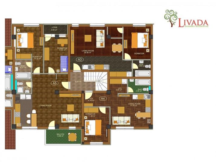 Apartamente 2 camere - A4, 41 mp, Ansamblul rezidential Livada