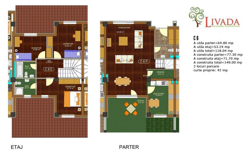 Casa 4 camere C6, 118 mp, Ansamblul rezidential Livada