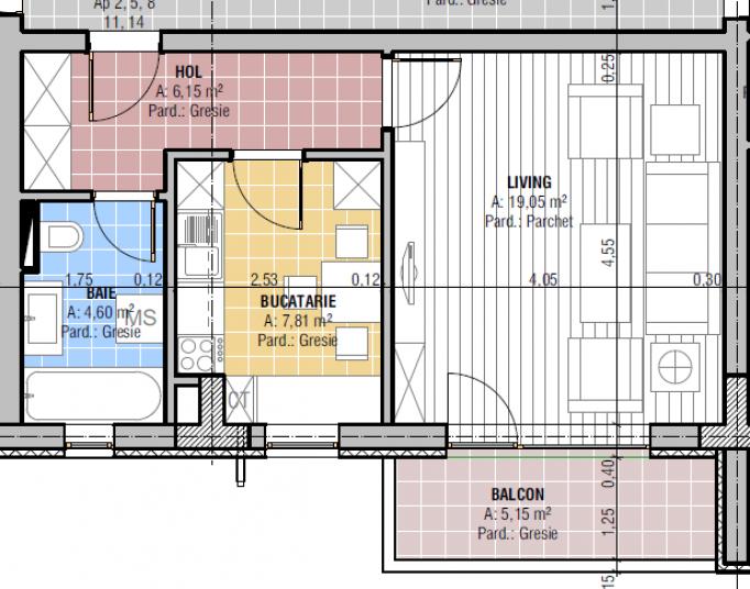 Garsoniere, 37.61 mp, CCI Residence - Temeliei