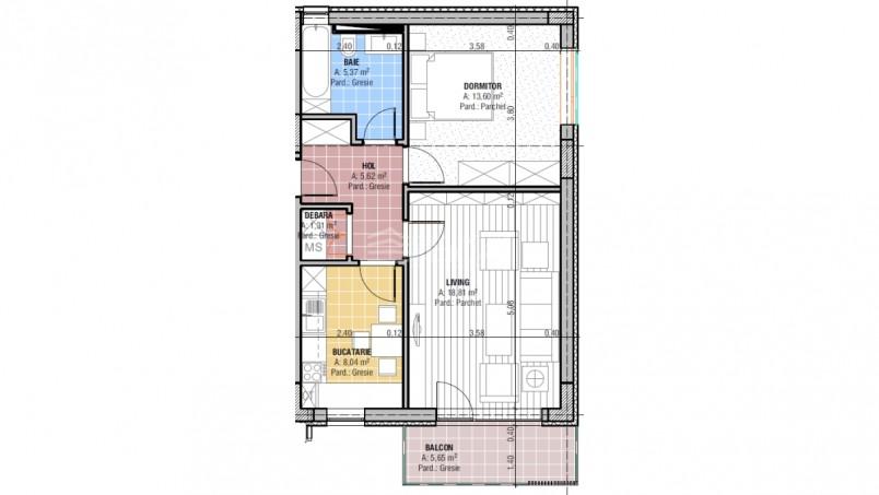 Apartamente 2 camere, 52.75 mp, CCI Residence - Temeliei