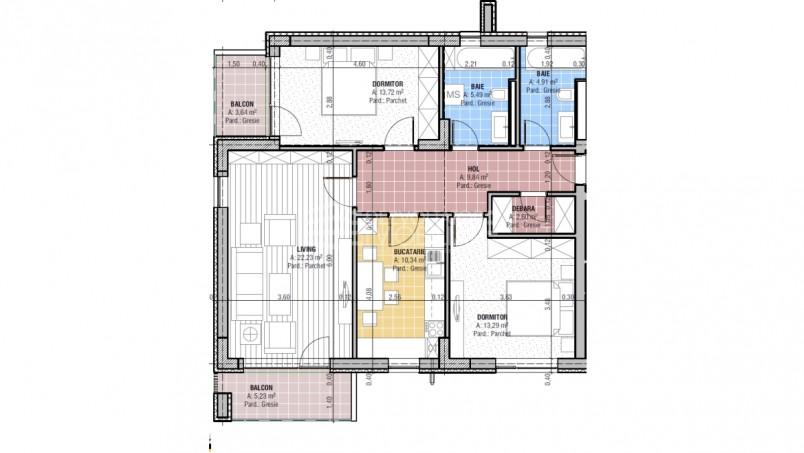 Apartamente 3 camere, 82.42 mp, CCI Residence - Temeliei