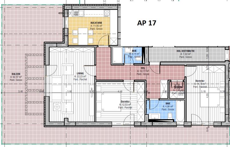 Apartamente 3 camere, 83.84 mp, CCI Residence - Temeliei