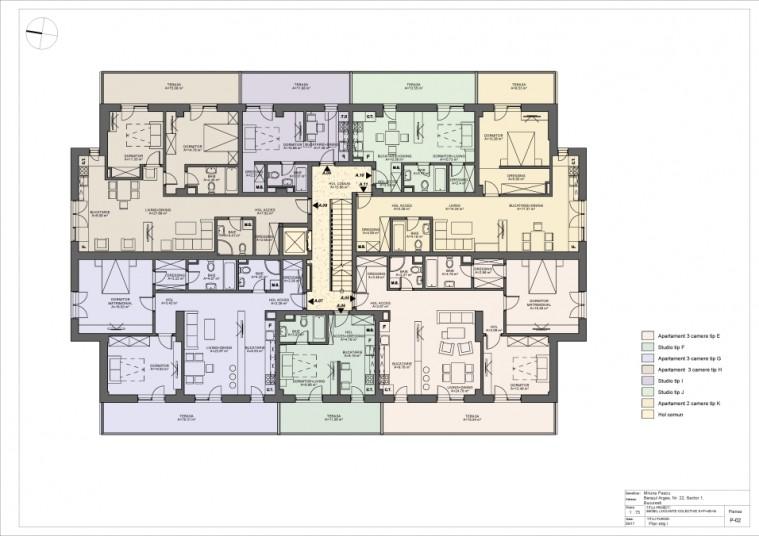 Apartament 2 camere - tip K/etaj 1, 64.41 mp, Barajul Arges 22