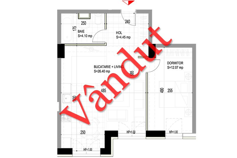 Apartamente 2 camere, 47 mp, Model C, Timisoara 58 Apartments