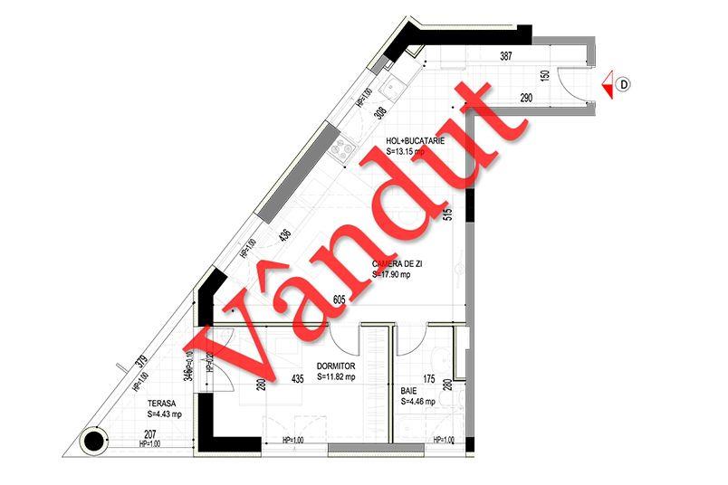 Apartamente 2 camere, 47 mp, Model D, Timisoara 58 Apartments