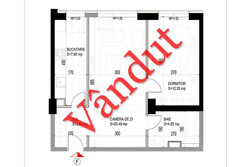 Apartamente 2 camere, 49 mp, Model F, Timisoara 58 Apartments