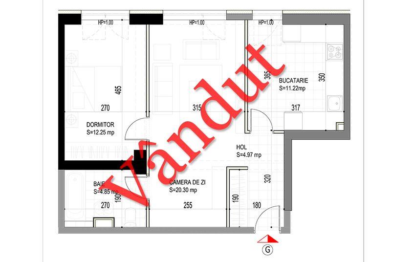 Apartamente 2 camere, 54 mp, Model G, Timisoara 58 Apartments
