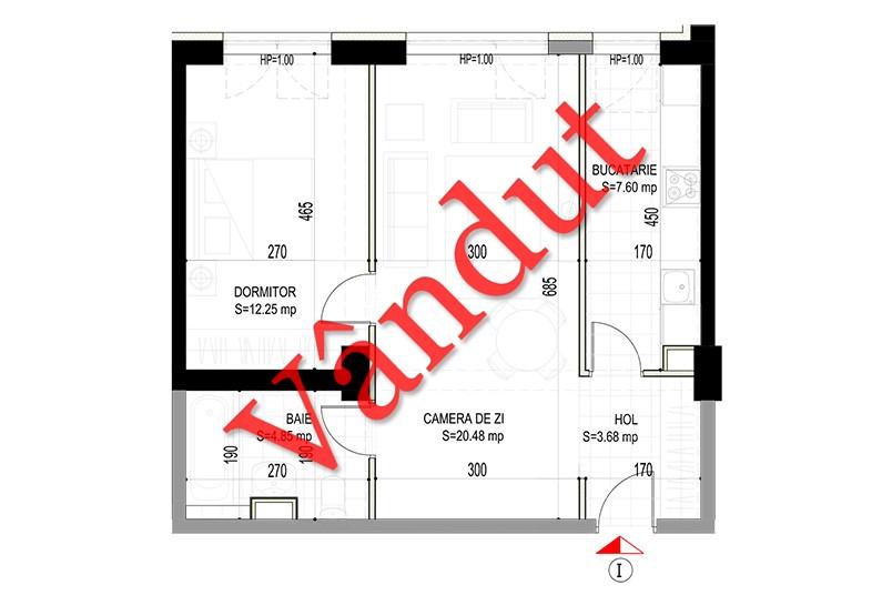 Apartamente 2 camere, 49 mp, Model I, Timisoara 58 Apartments