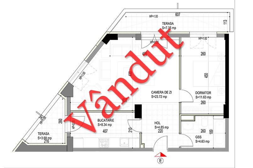 Apartamente 3 camere, 64 mp, Model E, Timisoara 58 Apartments