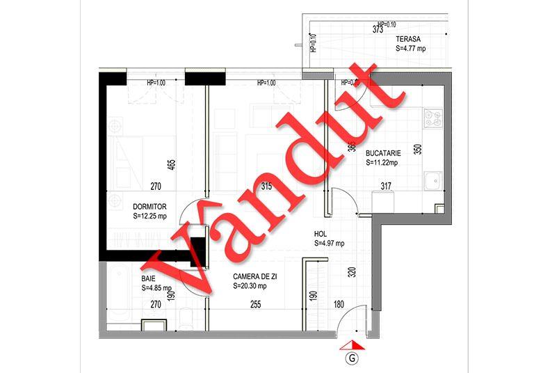 Apartamente 2 camere, 58 mp, Model G, Timisoara 58 Apartments