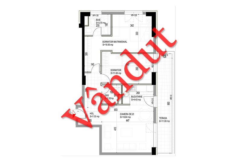 Apartamente 3 camere, 76 mp, Model J, Timisoara 58 Apartments
