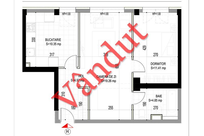 Apartamente 2 camere, 51 mp, Model H, Timisoara 58 Apartments