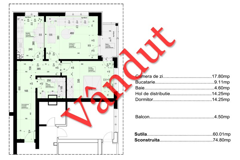 Apartamente 2 camere, 65 mp, 19th Residence