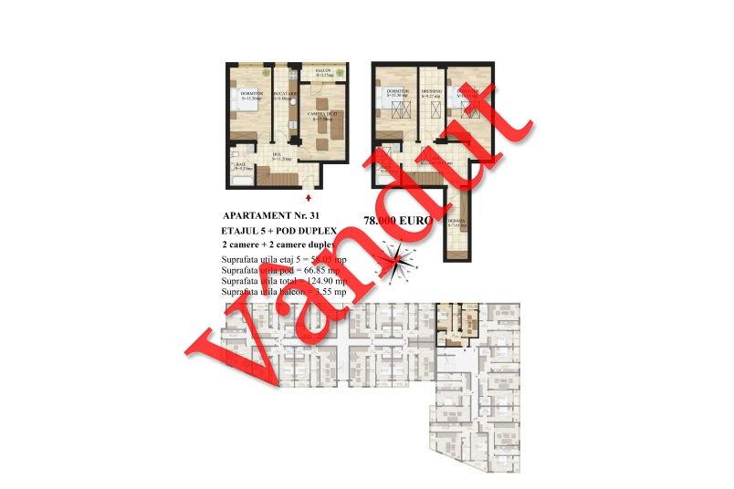 Duplex 4 camere, 125 mp, Mihai Bravu Residence III