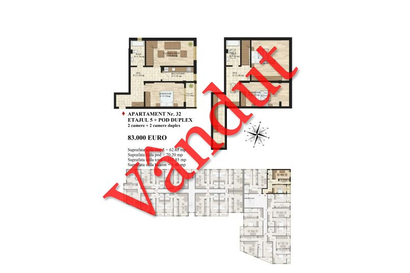 Duplex 4 camere, 133 mp, Mihai Bravu Residence III