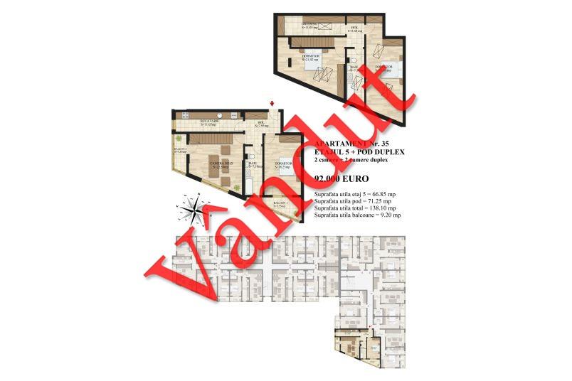 Duplex 4 camere, 138 mp, Mihai Bravu Residence III