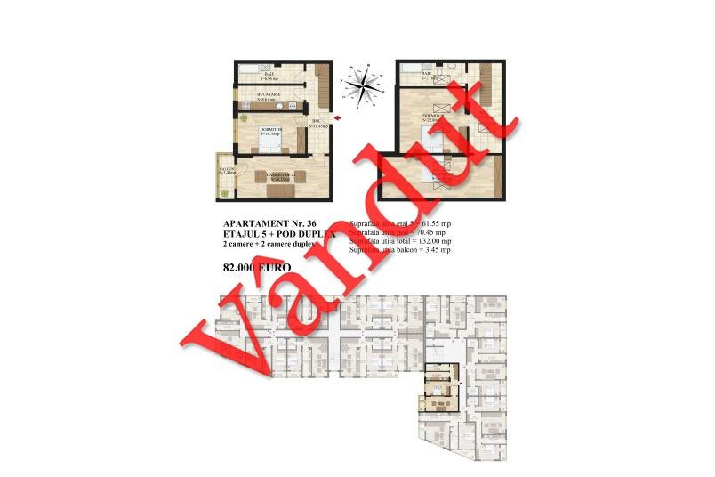 Duplex 4 camere, 132 mp, Mihai Bravu Residence III