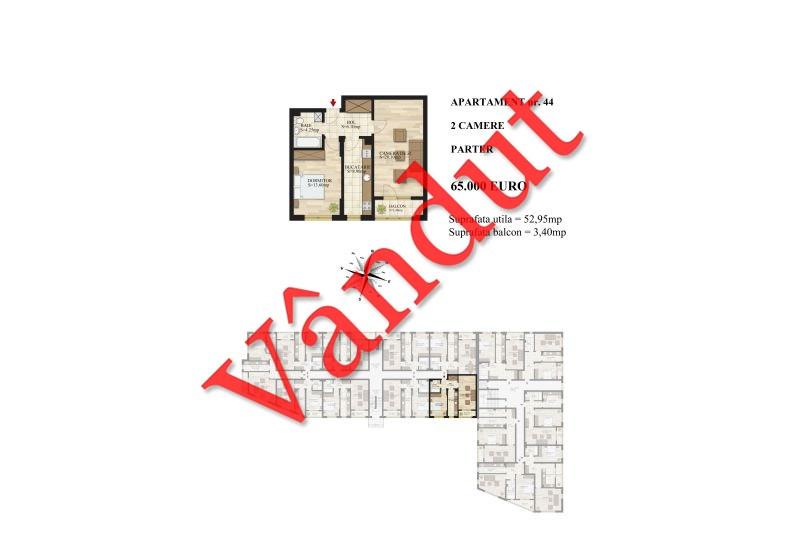 Apartamente 2 camere, 53 mp, Tip 3, Mihai Bravu Residence III