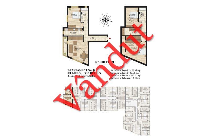 Duplex 4 camere, 132 mp, Tip 2, Mihai Bravu Residence III