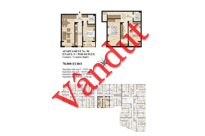 Duplex 4 camere, 128 mp, Mihai Bravu Residence III