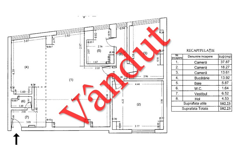 Apartamente 3 camere, 102 mp, Tip A 2, South City Residence