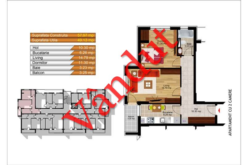 Apartamente 2 camere, 62 mp, Kristal Residence Berceni