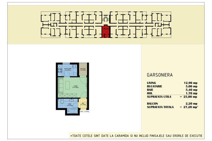 Garsoniere, 25 mp, Viva Residence 5